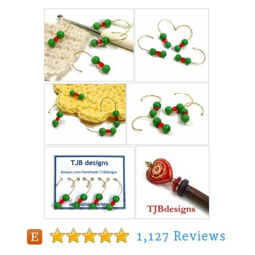 Green, Orange, Removable Stitch Markers, #etsy @tjbdesigns  #etsy #PromoteEtsy #PictureVideo @SharePicVideo