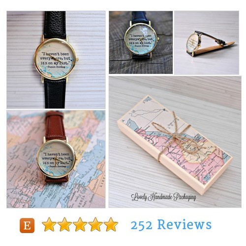 Travel gift. Inspirational. Graduation gift #Watch #Watch @ayo_bijou  #etsy #PromoteEtsy #PictureVideo @SharePicVideo