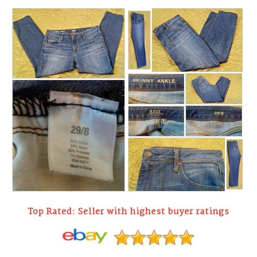 a.n.a. Women's Jeans Size 8 BLue Cotton Blend Skinny Ankle 29 Spring Casual Fun | eBay #ana #Slim #Jean  #etsy #PromoteEbay #PictureVideo @SharePicVideo