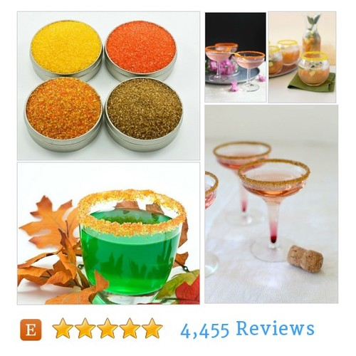Cocktail rimming sugar - 4 rim sugars in #etsy @dellcovespices  #etsy #PromoteEtsy #PictureVideo @SharePicVideo