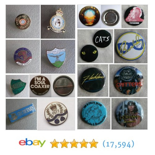 VINTAGE BADGES & PATCHES Items in THE SCREAMING APPLE shop  @applescreaming #ebay https://SharePicVideo.com?ref=PostVideoToTwitter-applescreaming #ebay #PromoteEbay #PictureVideo @SharePicVideo