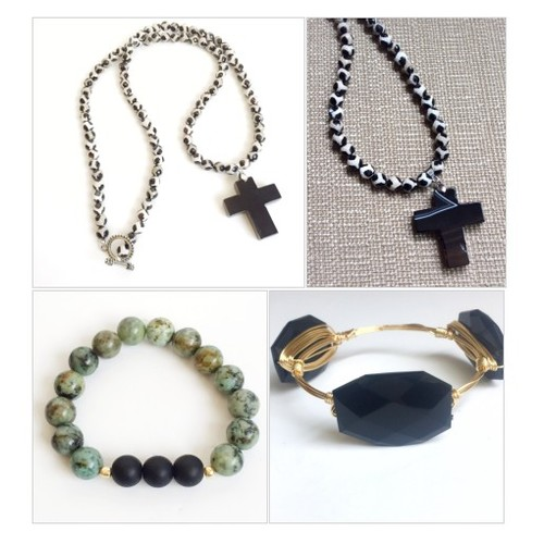 Black Agate Cross Necklace @immeasurablymo #shopify  #socialselling #PromoteStore #PictureVideo @SharePicVideo