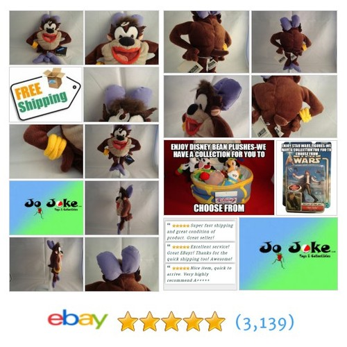 WARNER BROS STUDIO STORE-TAZMANIAN SHE-DEVIL BEAN PLUSH-10 IN-UNIQUE -NEW/TAGS!! | eBay #WARNERBROSSTUDIOSTORE #etsy #PromoteEbay #PictureVideo @SharePicVideo