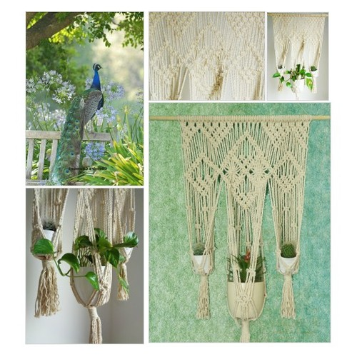 Macrame Wall Hanging, Triple Planter, Indoor Jungle, Boho Home Decor, Macramé Plant Hanger by Reef Knot Home #etsyspecialt #integritytt #SpecialTGIF #Specialtoo  #SpecialTParty      @SympathyRTs @SGH_RTs  @iPromotable #etsy #PromoteEtsy #PictureVideo @SharePicVideo