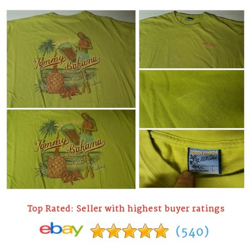 Tommy Bahama Blend In With The Natives SS T Shirt Large Green Hula #ebay @greatlakesfinds  #etsy #PromoteEbay #PictureVideo @SharePicVideo