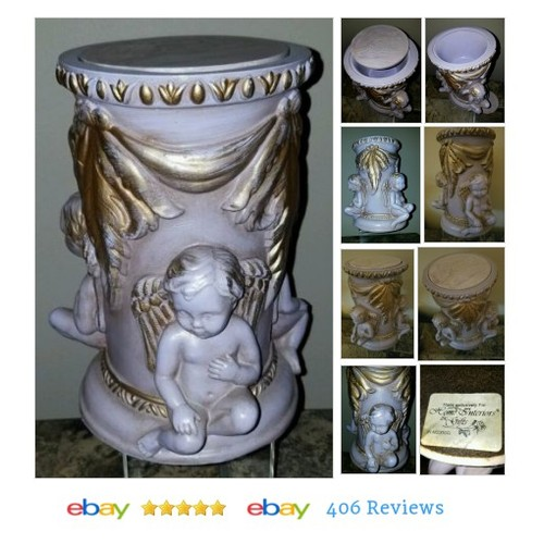 "Home Interior & Gifts Mexico Cherub Trinket Planter Pedestal 9.25""H 6.25"" W #TrinketBox #DecorativeCollectible #etsy #PromoteEbay #PictureVideo @SharePicVideo"