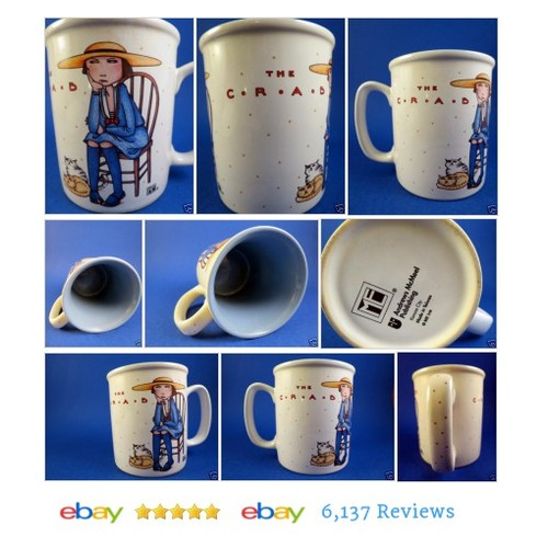 Mary Engelbreit Mug The Crab Girl Wooden Chair Sitting Cats ME #AndrewMcNeelPublishing #etsy #PromoteEbay #PictureVideo @SharePicVideo