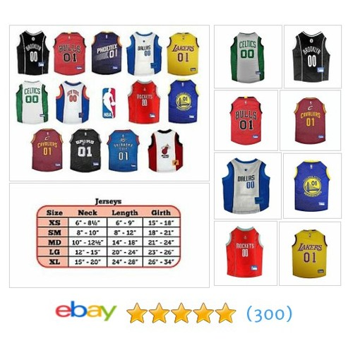 NBA Dog Pet Jersey Officially licensed Pet Product Fan Sport Logo | #ebay @bebs1968  #etsy #PromoteEbay #PictureVideo @SharePicVideo