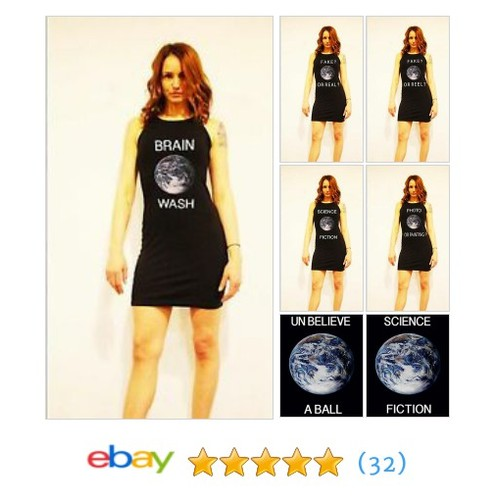 THE POWERLINE BY MATH POWERLAND WOMEN'S LITTLE BLACK ERTH DRESS #ebay @kathrynorourke  #etsy #PromoteEbay #PictureVideo @SharePicVideo