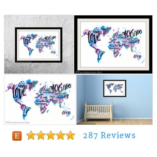 Watercolor Art Print Love Art Print #artprint #etsy @paintspiration  #etsy #PromoteEtsy #PictureVideo @SharePicVideo