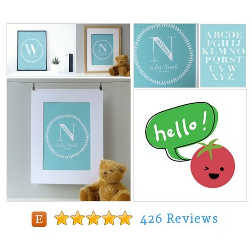 Baby Monogram Print for boys - personalized #etsy @wink_design  #etsy #PromoteEtsy #PictureVideo @SharePicVideo