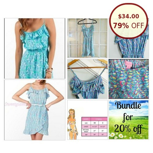 Lilly Pulitzer Spring Ruffle Wrap Dress / @violetandjustin https://www.SharePicVideo.com/?ref=PostPicVideoToTwitter-violetandjustin #socialselling #PromoteStore #PictureVideo @SharePicVideo