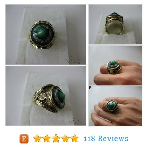 Green Lamp Glass Bronze Ring #etsy @jwonetsy https://www.SharePicVideo.com/?ref=PostPicVideoToTwitter-jwonetsy #etsy #PromoteEtsy #PictureVideo @SharePicVideo