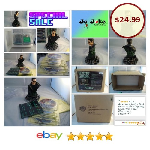 MATRIX 10 DVD'S-BOOKLET AND GENTLE GIANT NEO STATUE 5 INCHES-LOOSE-NEW-RARE-COOL | eBay #WARNERBRO #etsy #PromoteEbay #PictureVideo @SharePicVideo