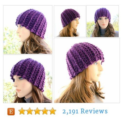 Purple Crochet Hat Gift For Women, Warm Hat #etsy @lyubavacrochet  #etsy #PromoteEtsy #PictureVideo @SharePicVideo