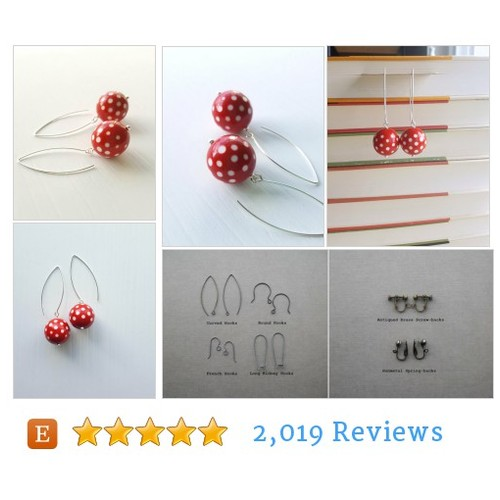 dixie earrings, red - vintage lucite and #etsy @katerimorton  #etsy #PromoteEtsy #PictureVideo @SharePicVideo