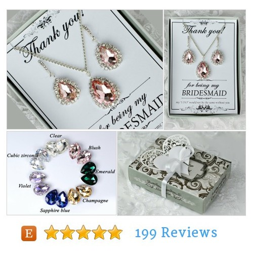bridal & bridesmaid jewelry  #Wedding #Jewelry #JewelrySet @kov181  #etsy #PromoteEtsy #PictureVideo @SharePicVideo