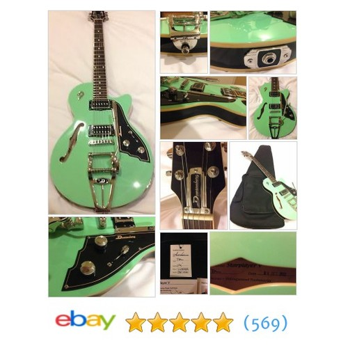 Duesenberg Starplayer V Surf Green 2012 JAPAN LIMITED MODEL with #ebay @qteeusa  #etsy #PromoteEbay #PictureVideo @SharePicVideo