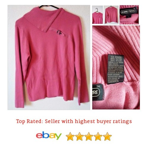 #Buckle #Sweater #Large #Pink  With a Buckle @eBay #SideSplit #JeannePierre #etsy #PromoteEbay #PictureVideo @SharePicVideo