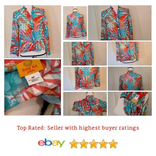 Ruby Rd #Tropical #Blouse Size S @Sheer @Bright Spring  | @eBay #Top #RubyRd #etsy #PromoteEbay #PictureVideo @SharePicVideo