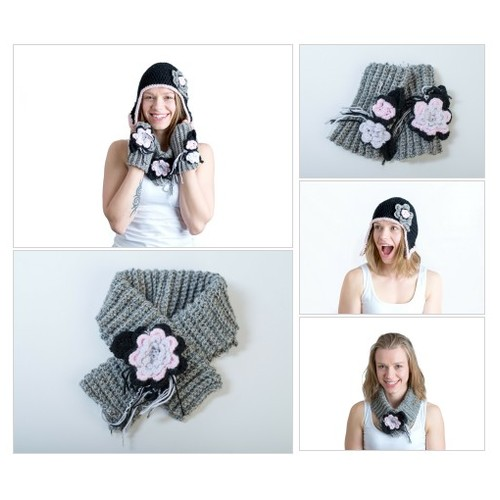 Barbara Hat-Scarf-Mitten set @chd_designs #shopify  #shopify #PromoteStore #PictureVideo @SharePicVideo