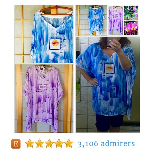 Resort Wear Rayon Cover Up or Plus Size tunic #HandmadeHour #epiconetsy #etsymntt @EtsySocial @MDFDRetweets @EtsyRT #etsy #PromoteEtsy #PictureVideo @SharePicVideo