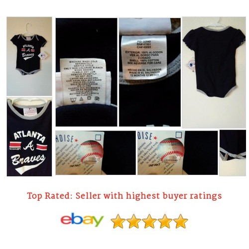 Atlanta Braves Onesie #Majestic MLB 18 Months Creeper | eBay #Souvenir #FanApparel #etsy #PromoteEbay #PictureVideo @SharePicVideo