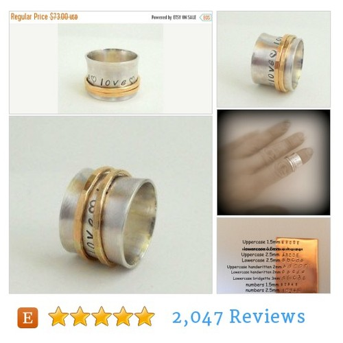 ON SALE Sterling Personalized Spinner Ring #etsy @moodichic  #etsy #PromoteEtsy #PictureVideo @SharePicVideo