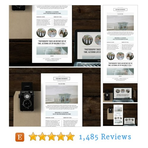 Photography Newsletter Template for Email & #etsy @bybittersweetie  #etsy #PromoteEtsy #PictureVideo @SharePicVideo