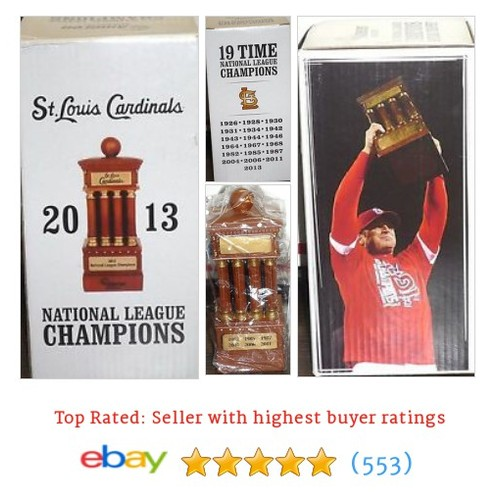 NIB St Louis Cardinals 2013 Replica NL Championship Trophy New in #ebay @urbnvintagechic  #etsy #PromoteEbay #PictureVideo @SharePicVideo