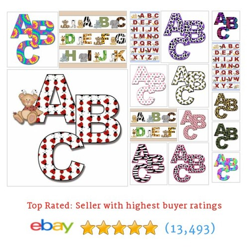 Alphabet - Letters Items in DeCamp Studios store #ebay @lauradecamp  #ebay #PromoteEbay #PictureVideo @SharePicVideo