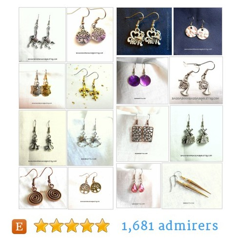 Charm And Chain Earrings #etsy shop #charmandchainearring @bbbbgiftscom  #etsy #PromoteEtsy #PictureVideo @SharePicVideo
