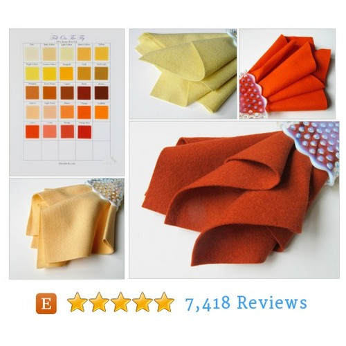 Yellow Felt, Orange Wool Felt, Large Felt #etsy @feltonthefly  #etsy #PromoteEtsy #PictureVideo @SharePicVideo