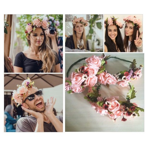 Peach Princess Flower Crown @rouxmia #shopify  #shopify #PromoteStore #PictureVideo @SharePicVideo