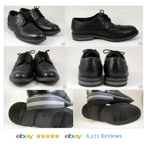 JOSEPH ABBOUD Black Leather Dress Shoes Wingtips Size 8 M #Dress #Formal #WingTip #etsy #PromoteEbay #PictureVideo @SharePicVideo
