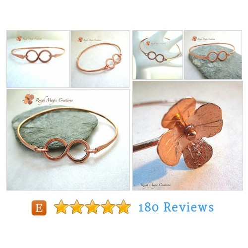 Copper Bangle Infinity Bracelet Hammered #etsy @roughmagicme  #etsy #PromoteEtsy #PictureVideo @SharePicVideo