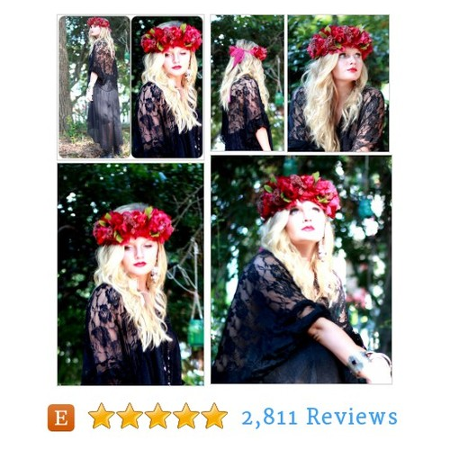 Gypsy soul hair wreath, wanderlust Floral #etsy @truerebeldesign  #etsy #PromoteEtsy #PictureVideo @SharePicVideo
