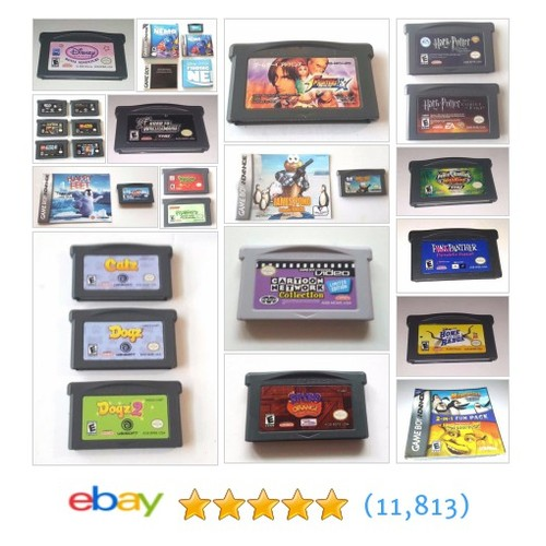 Gameboy Advance Games Great deals from Agunya's Video Games  @rainmaker71165 #ebay  #ebay #PromoteEbay #PictureVideo @SharePicVideo