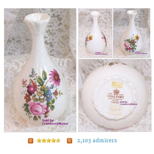 Coalport China Ludlow #Vase Spring Garden Pink by CranberryManor #Home #Living #etsy #PromoteEtsy #PictureVideo @SharePicVideo
