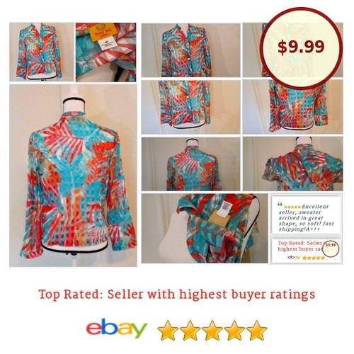 #RubyRd. Women's #Blouse Size S  #Sheer #Bright #fashionista #fashion #auction#Floridafashion #Flfashion #tropical #etsy #PromoteEbay #PictureVideo @SharePicVideo