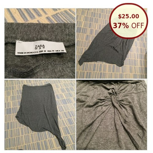 ZARA ASYMMETRICAL KNOTTED SKIRT @thereclaimed https://www.SharePicVideo.com/?ref=PostPicVideoToTwitter-thereclaimed #socialselling #PromoteStore #PictureVideo @SharePicVideo