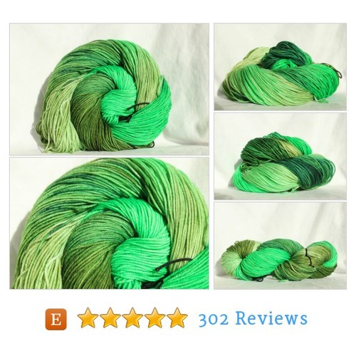 RTS Hand dyed yarn, green yarn , variegated #etsy @smaksuperfibers https://www.SharePicVideo.com/?ref=PostPicVideoToTwitter-smaksuperfibers #etsy #PromoteEtsy #PictureVideo @SharePicVideo