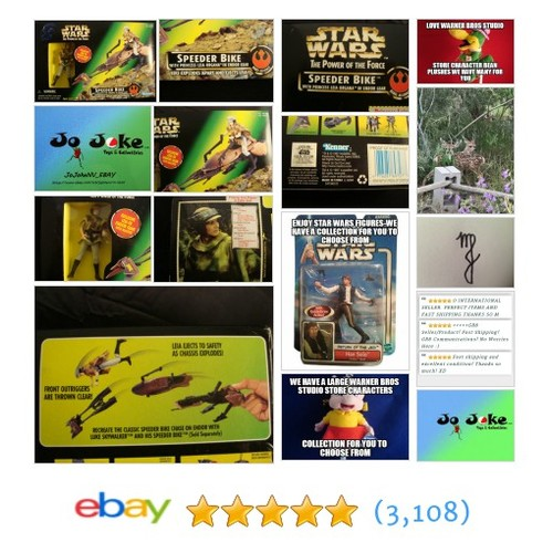 STAR WARS-POTF-SPEEDER BIKE-PRINCESS LEIA-BIKE EXPLODES EJECT LEIA-1997-COOL!NEW | eBay #etsy #PromoteEbay #PictureVideo @SharePicVideo
