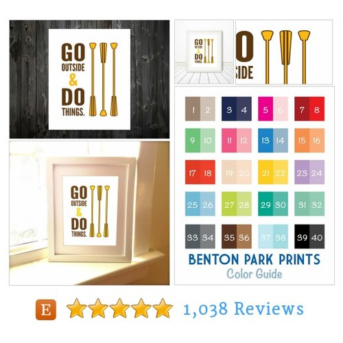 Go Outside & Do Things, Home Decor, #etsy @bentonparkprint  #etsy #PromoteEtsy #PictureVideo @SharePicVideo