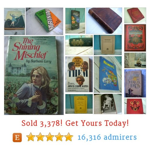 VINTAGE BOOKS Etsy shop #vintagebook #etsy @honeystreasures  #etsy #PromoteEtsy #PictureVideo @SharePicVideo