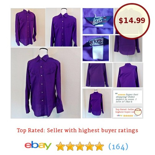 Levi's Men's Vtg Tapered Fit #Western Shirt Large Purple Honky Tonk Rockabilly | eBay #Levi #CasualShirt #etsy #PromoteEbay #PictureVideo @SharePicVideo