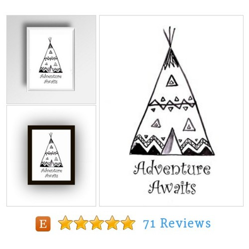 Adventure awaits, Inspirational Quote, #etsy @sweepinggirlart  #etsy #PromoteEtsy #PictureVideo @SharePicVideo