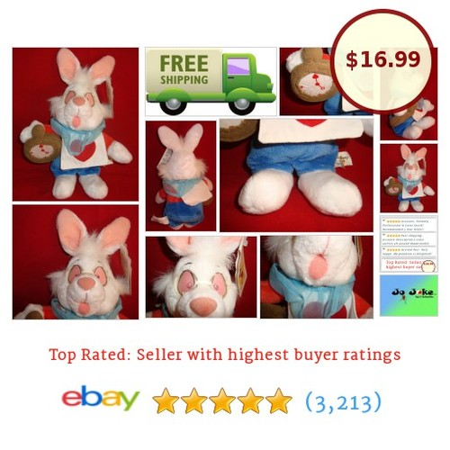 "DISNEY-WHITE RABBIT-12""-WATCH-GLASSES-ZANY EXPRESSION&WEAR-DISNEY STORE-NEW/TAGS 