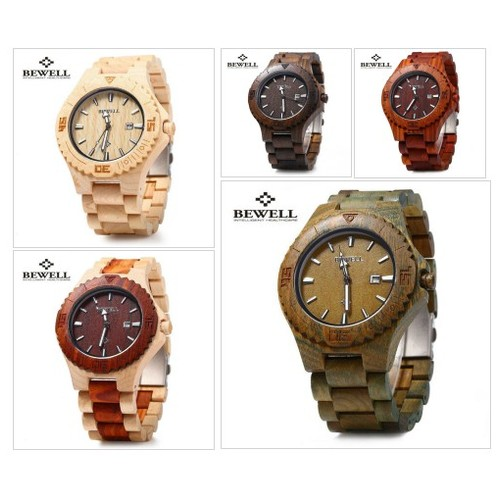 Bewell Wooden Watch with Date Display #socialselling #PromoteStore #PictureVideo @SharePicVideo