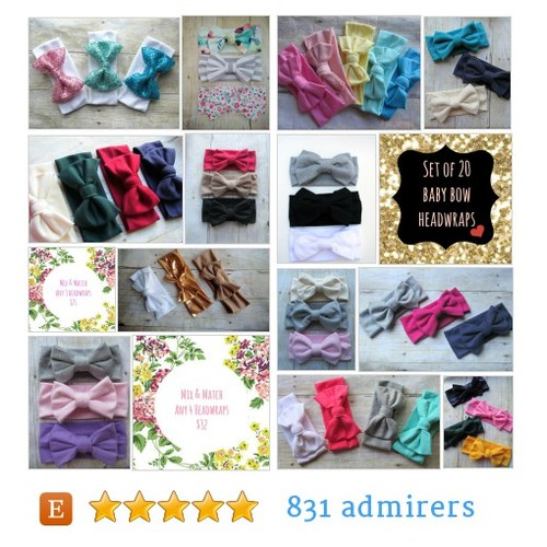 BOW HEADWRAP SETS #etsy shop #bowheadwrapset @sweetxdarlings  #etsy #PromoteEtsy #PictureVideo @SharePicVideo